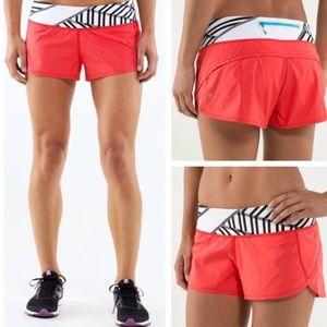 Lululemon Speed Short Running Shorts Love Red